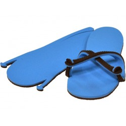 Sandale chocolat / bleu