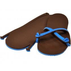 Sandale bleu / chocolat